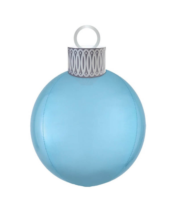 "Anagram Balloons 20"" Christmas Orbz Ornament Kit - Blue"
