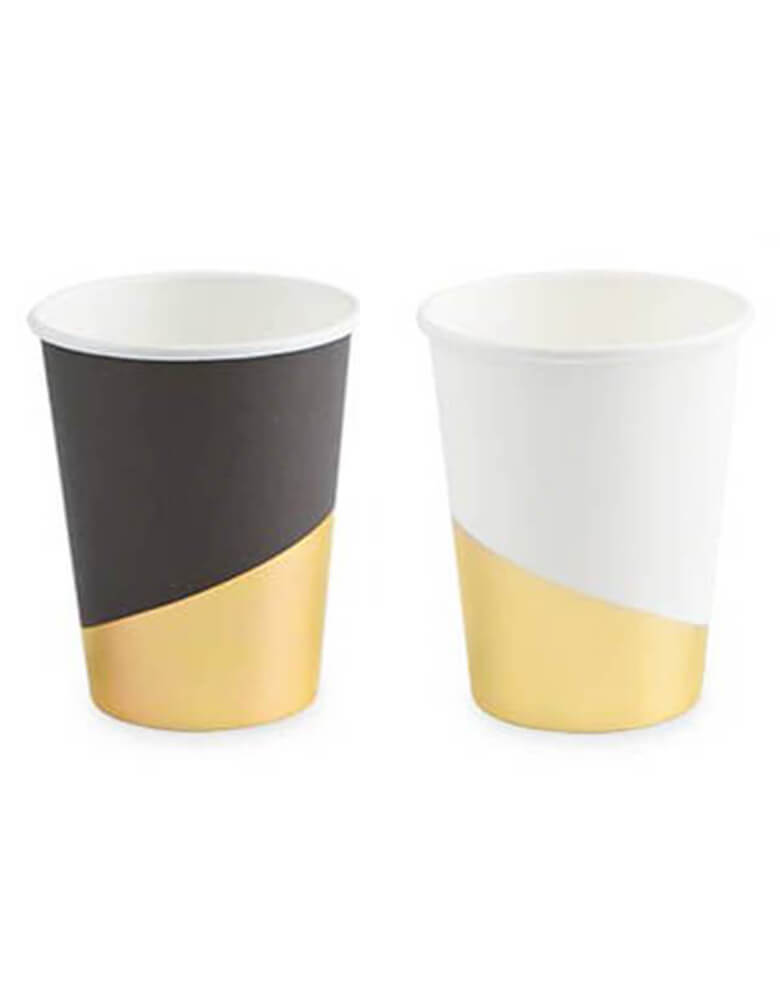 "Cakewalk Assorted Gold Dipped Cups: 7"" wide"