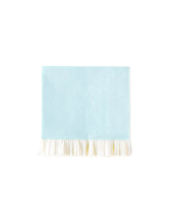 "My Minds Eye 5"" Baby Blue Fringe Cocktail Napkins"