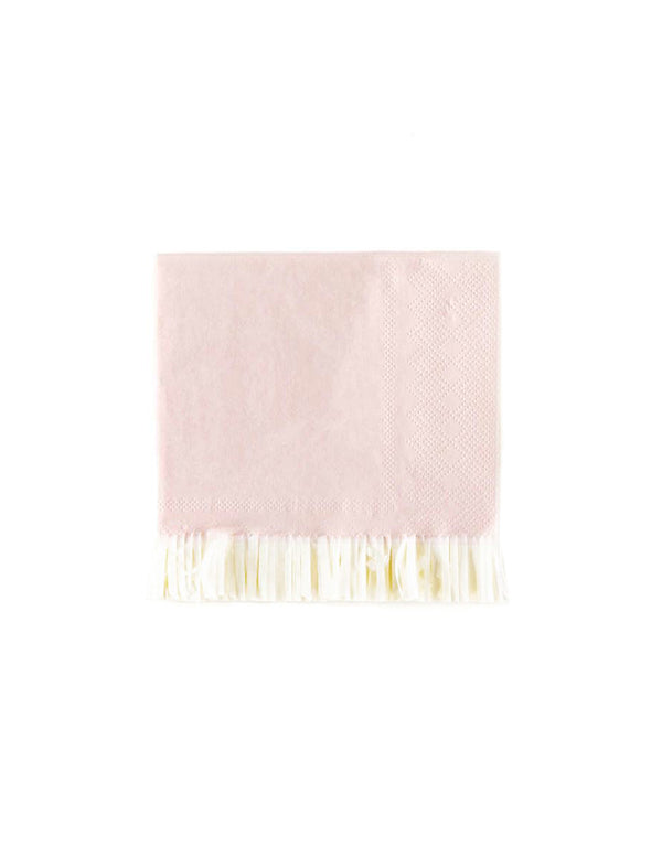 "My Minds Eye 5"" Baby Pink Fringe Cocktail Napkins (Set of 25)"