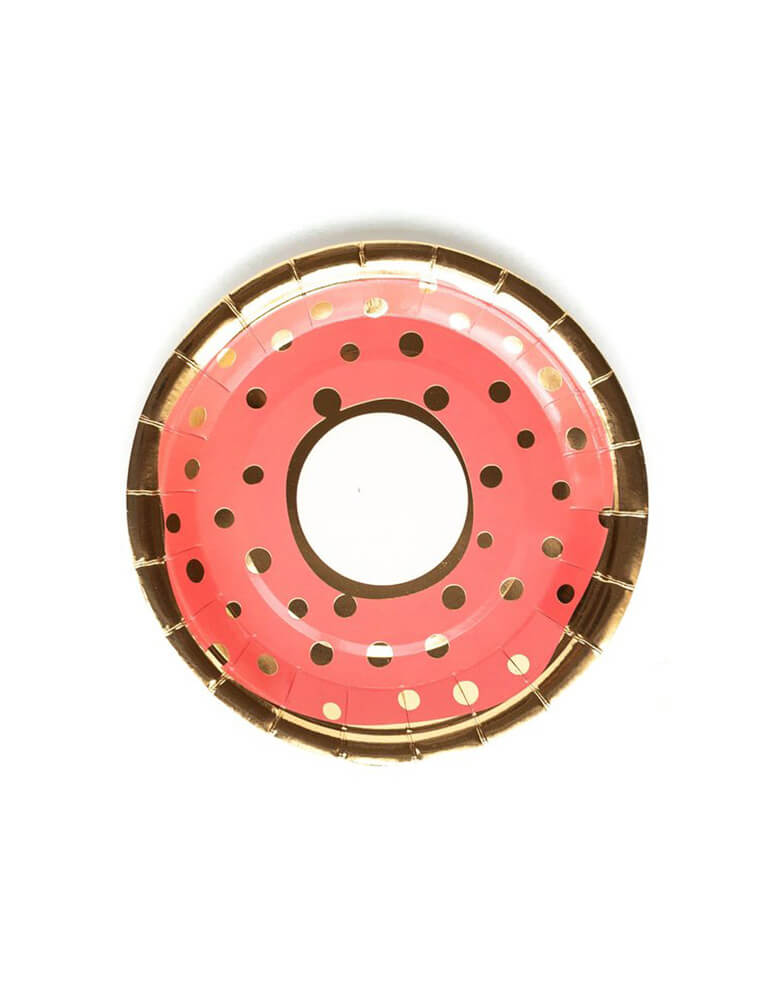 "My Minds Eye 7"" Bakery Donut Plate Red"