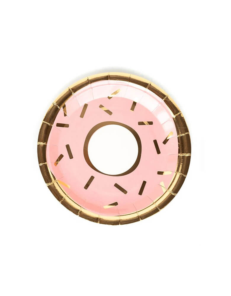 "My Minds Eye 7"" Bakery Donut Plate Pink"