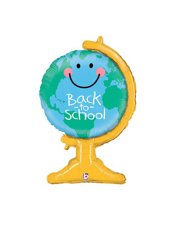 "Betallic 33"" Back To School Globe Foil Mylar Balloon"