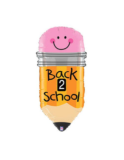 "Betallic Back to school 32"" pencil shaped foil balloon"