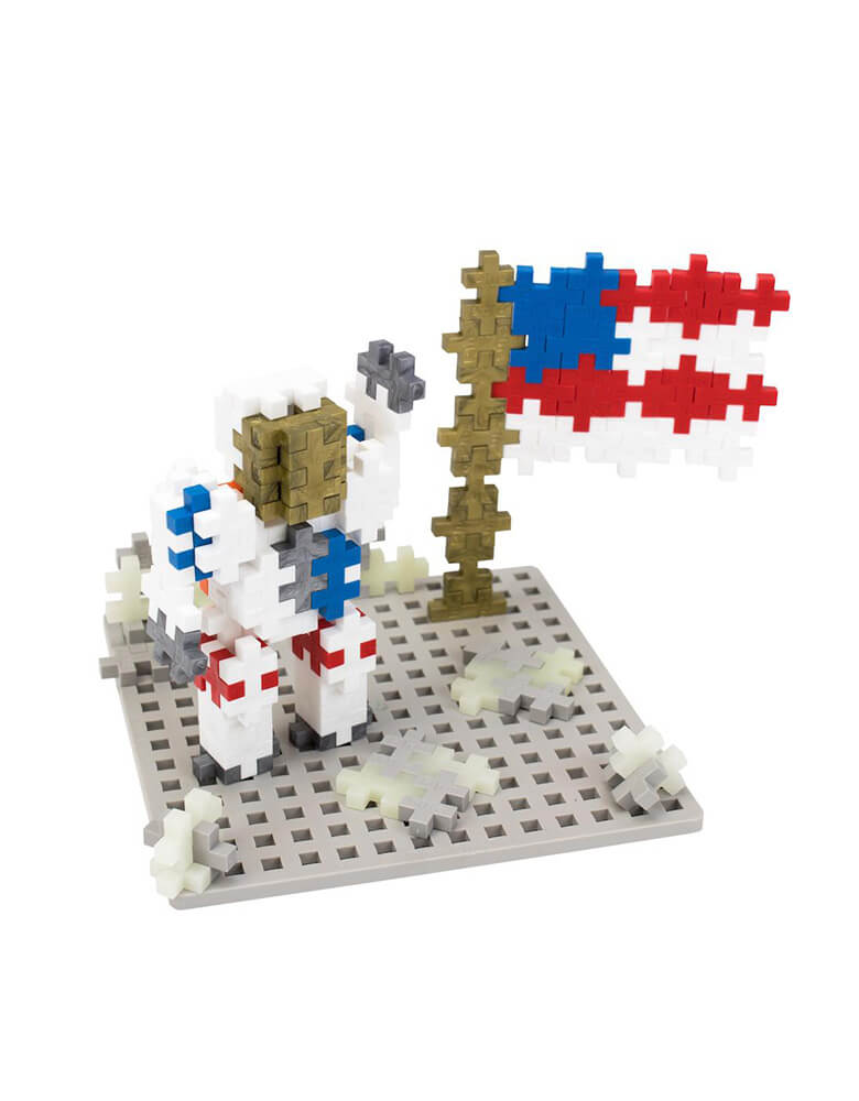 Plus-Plus Baseplate Builder - Moon with glow in the dark pieces for boys Easter basket ideas