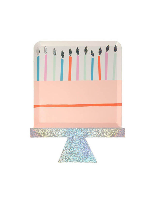 Meri Meri Birthday Cake Plates with candles