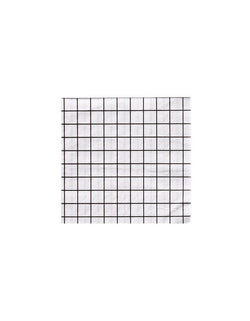 Black And White Grid Small Napkins (Set of 20)