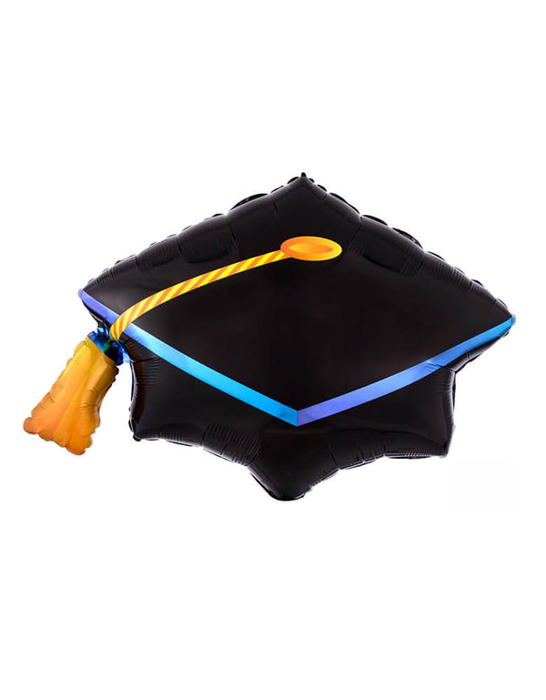 "Anagram 31"" Black Graduation Cap Foil Mylar Balloon"