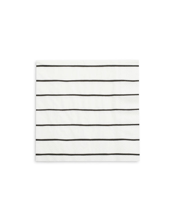 "Daydream Society 6.5"" Ink Frenchie Striped large napkins"