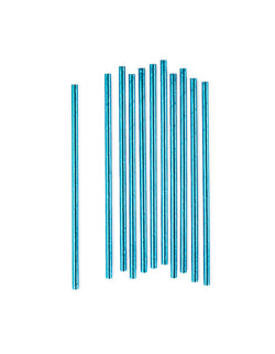 Blue Foil Party Straws