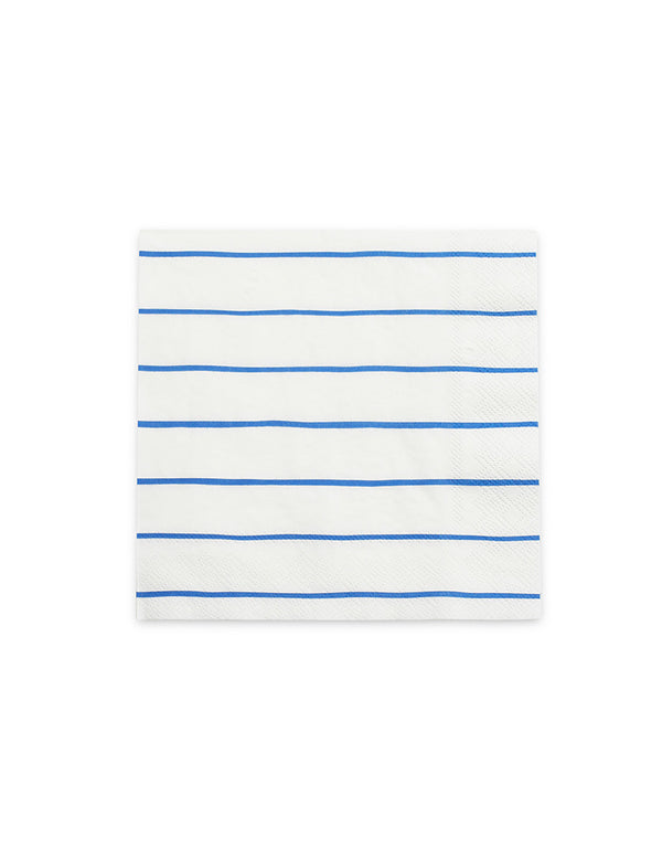 "Daydream Society 6.5""  Frenchie Blue Striped Large Napkins"
