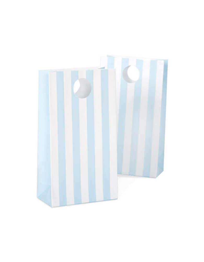 Paper Eskimo Powder Blue Stripe Party bag