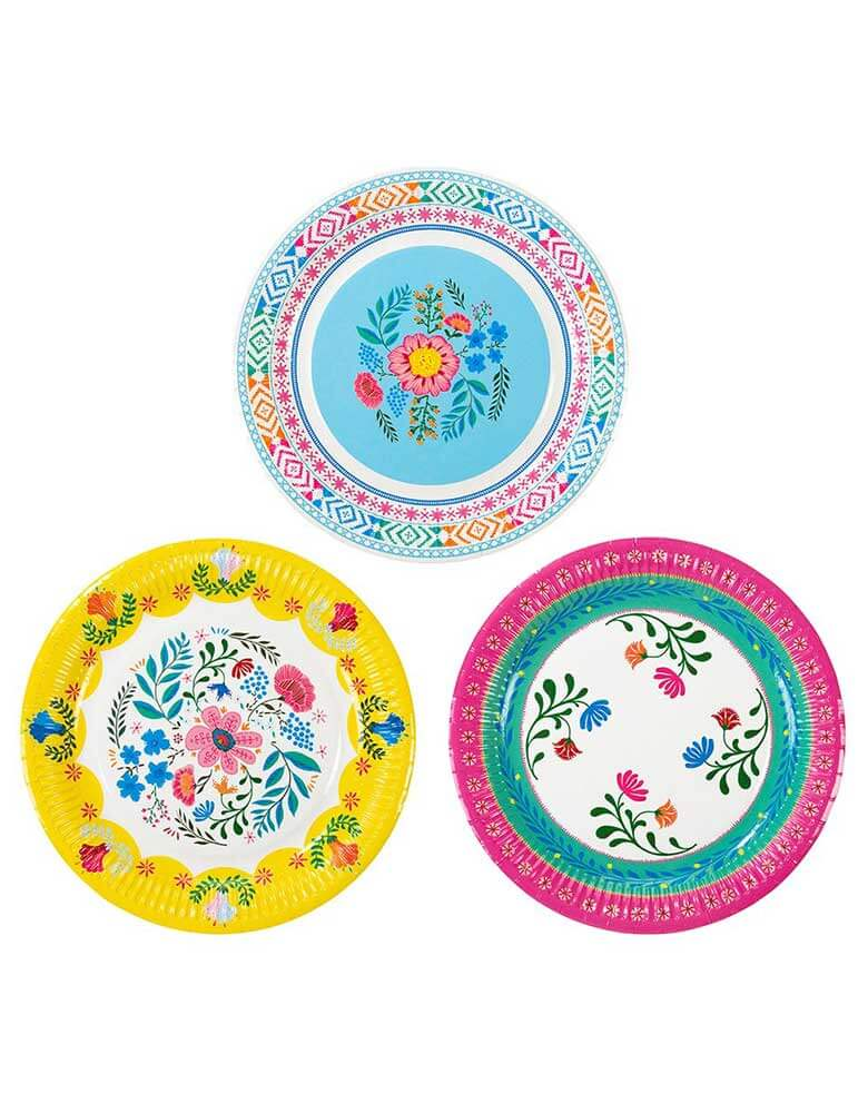 "Talking Tables 9"" Boho Fiesta Floral Plates in 3 designs"