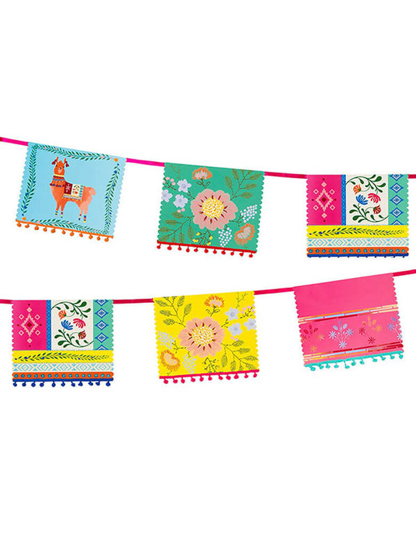 Talking Tables 13 ft Boho Fiesta Mixed Pom Pom Garland