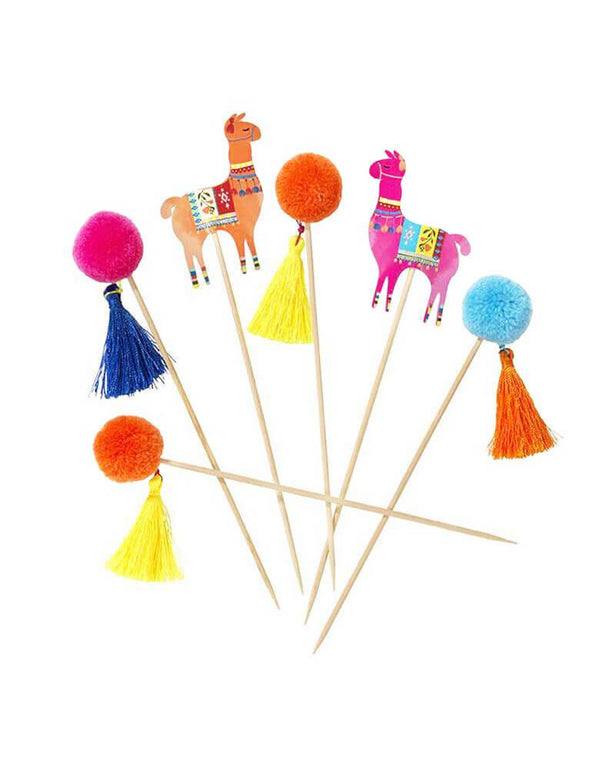 Talking Tables Boho Fiesta Pom Pom Llama Food Picks