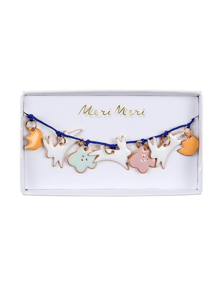 Meri Meri Bunny Enamel Bracelet in a cute clear package