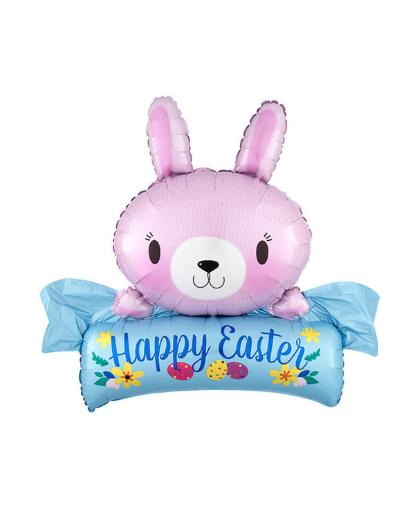 Anagram Balloons - 32 inches Bunny Happy Easter Foil Balloon
