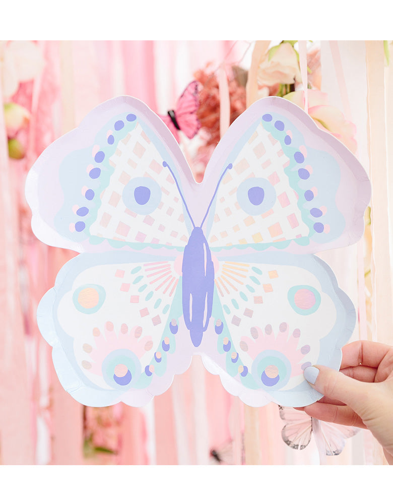 Daydream Soceity_flutter-large-plate_Kids Butterfly Party_Fairy Party Goods