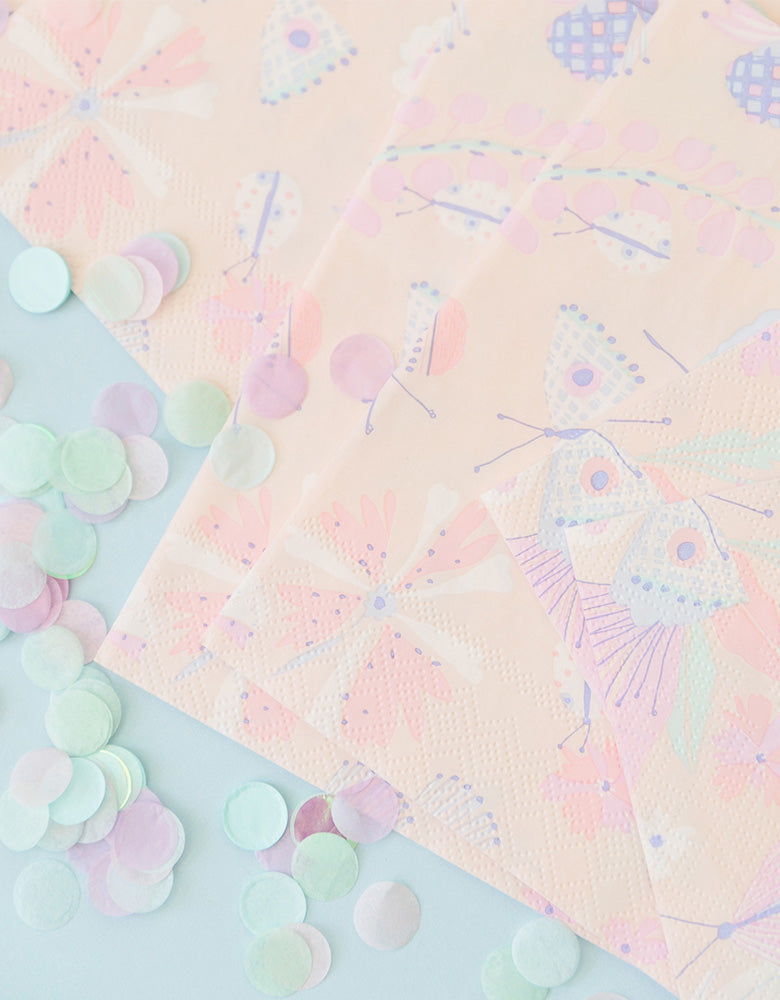 Daydream Society_ Flutter Butterfly Napkins_Kids Butterfly Party_Fairy Party Goods