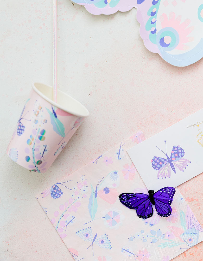 Daydream Society_ Flutter Butterfly Napkins_Kids Butterfly Party_Fairy Party Ideas