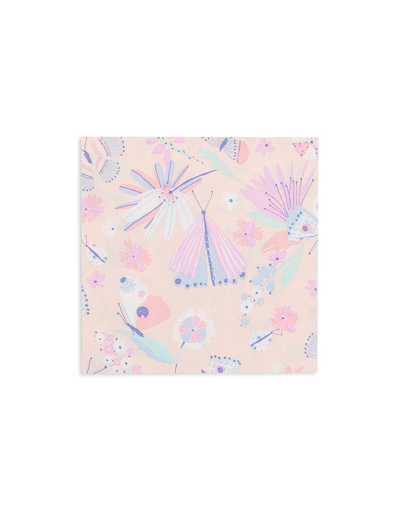 Daydream Society_ Flutter Butterfly Napkins_Kids Butterfly Party_Fairy Party Supplies