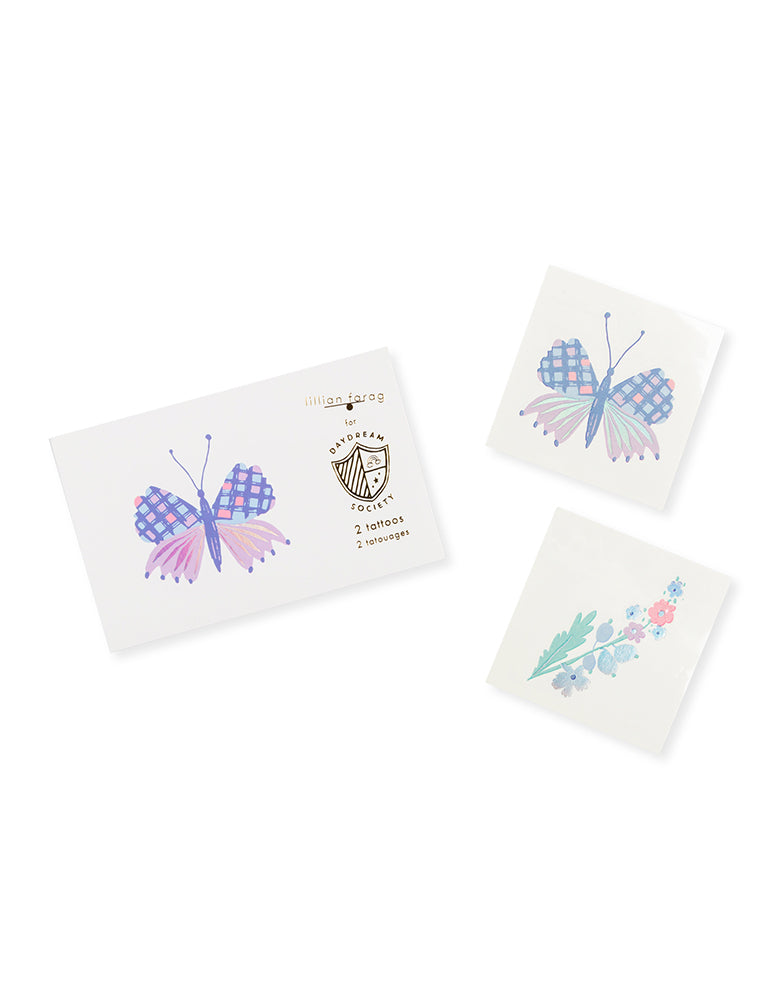 Daydream Society_flutter butterfly temporary-tattoo_Butterfly Party_Fairy Party Ideas