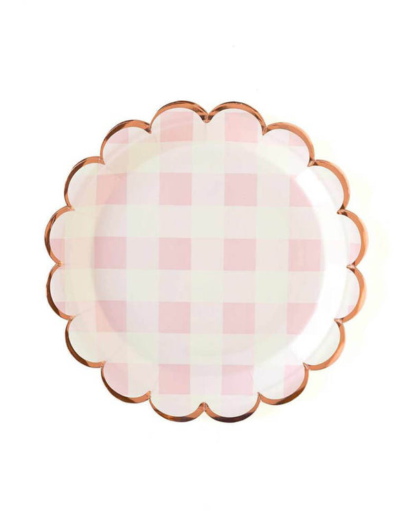 "My Minds Eye Cake By Courtney Pink Buffalo 9"" Scalloped Large Plates"
