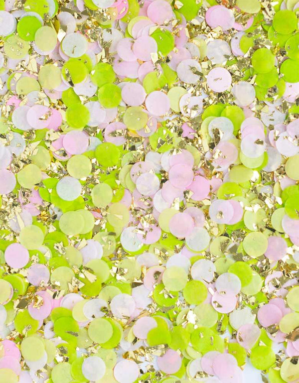 Sudiopep Cactus Artisan Confetti Colors of pink, light pink, lime green, pistachio and gold shred