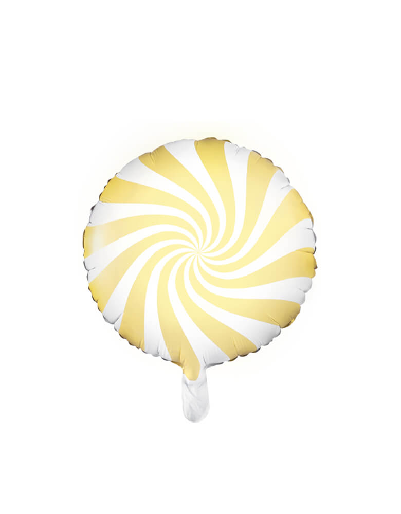 "Party Deco 18"" Yellow Candy Foil Balloon"