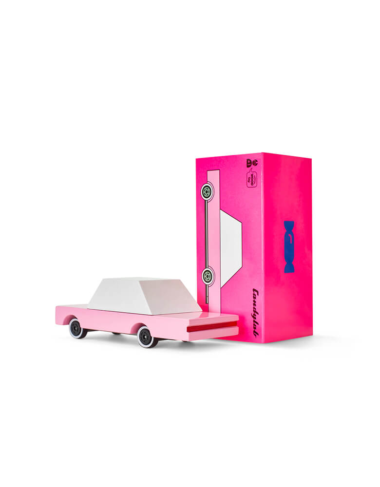 Candylab Candycar Pink Sedan and its package