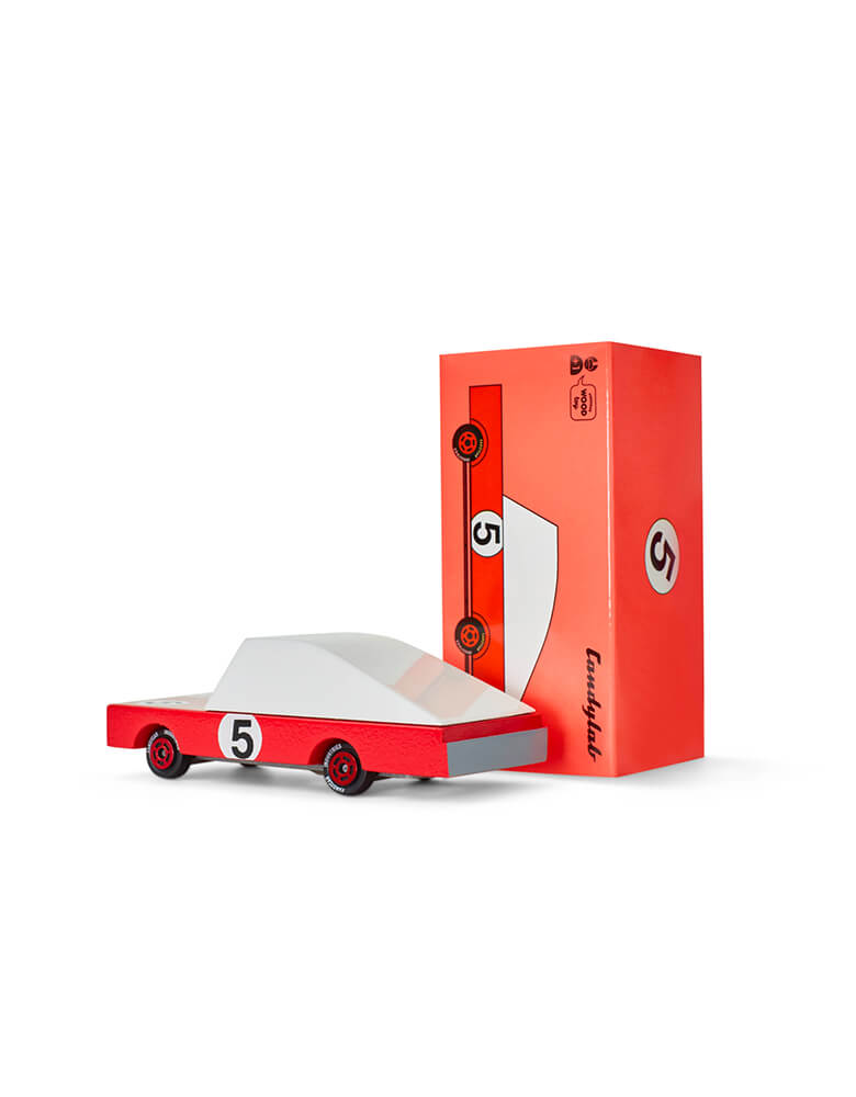 Candylab Candycar Red Race Car and its package