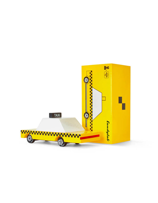 Candylab Candycar Yellow Taxi and its package
