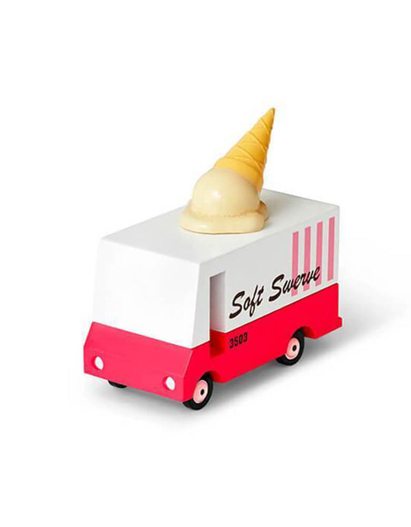 Candylab Candyvan Ice Cream Van, Designed by Candylab Toys, it was built with solid beech wood, water-based paint and clear urethane coat.