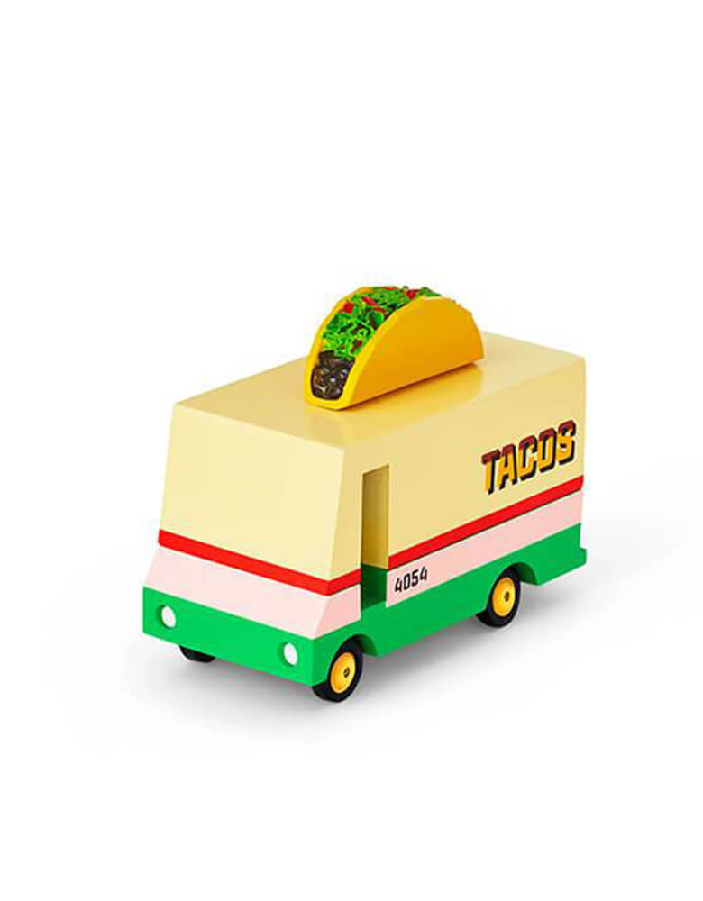 Candylab Candyvans Taco Van, Designed by Candylab Toys, it was built with solid beech wood, water-based paint and clear urethane coat