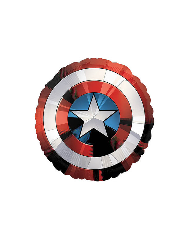 "28""_Avengers_Captain_America_Shield_Foil_Balloon for kids birthday party decorations"