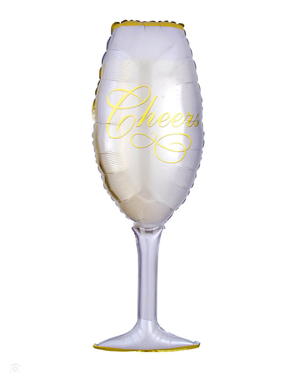"Anagram 38"" Champagne Glass Foil Balloon"