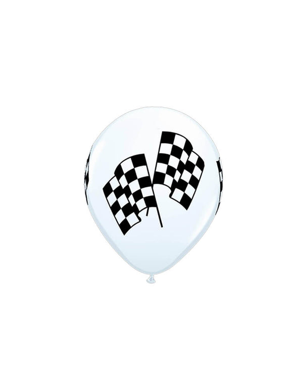 "Qualatex 11"" Checkered Flag Printed Latex Balloon"