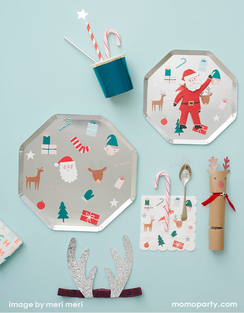 Christmas Festive Dinner Plates (Set of 8)
