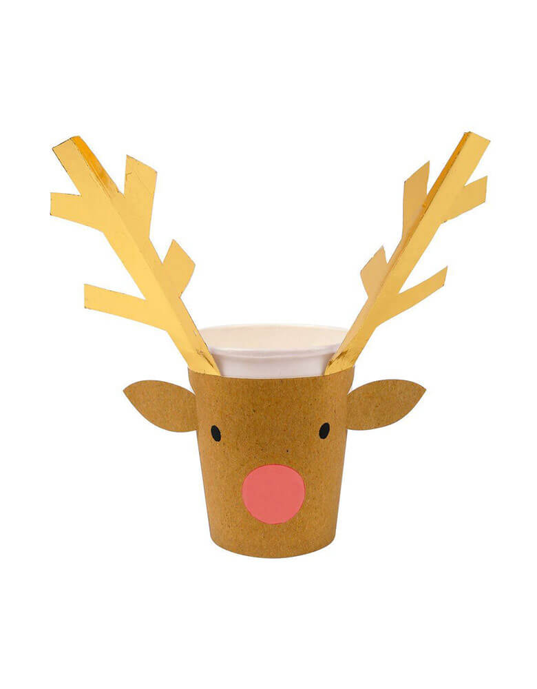 Christmas Holiday Party Reindeer Paper Cup