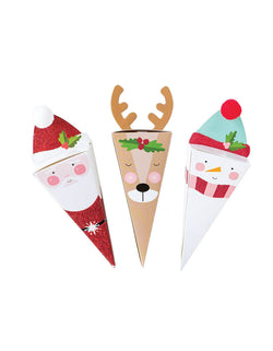 Christmas Santa, Reindeer and Snowman Party Favor Boxes