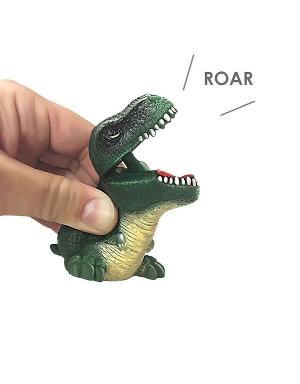 Schylling Squeeze & Roar Dino Bites Roar Dino Sound Dinosaurs in Green color Toy