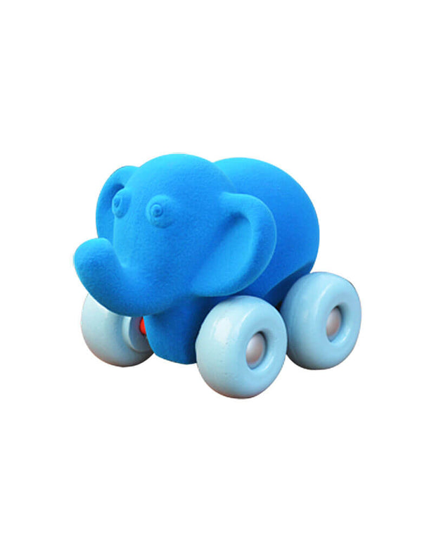 blue elephant velvety soft car toy