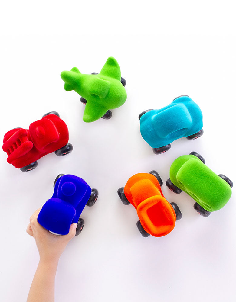 rubber foam colorful Little Vehicles with hand
