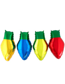 Anagram Balloons Christmas Light Bulb Decorator Foil Balloon Kit