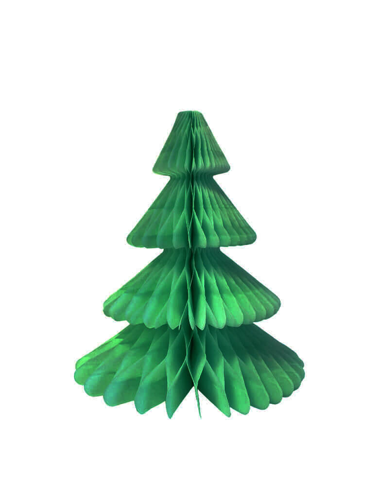 Devra Party Honeycomb Paper Christmas Tree decoration in Light green color, 12 inch, Made in the USA with high quality tissue paper. This tissue paper tree will look so adorable for either your Holiday decoration at home or your Christmas event, use it as room decor, table centerpiece, or put them on top of the mantel. Delight your cozy pastel holiday with modern unique designed paper tree. Sold by Momo party store provided modern party supplies, boutique party supplies, chic holiday party supplies