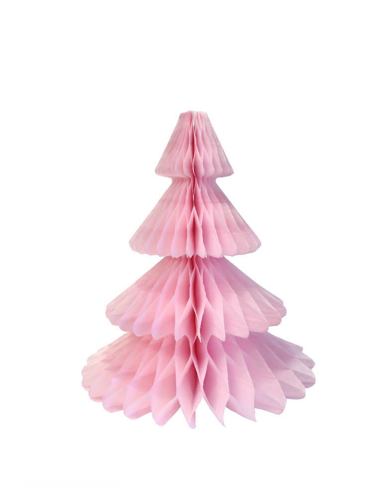 Devra Party, 12inch Christmas-Tree-Honeycomb-Paper_Peach color