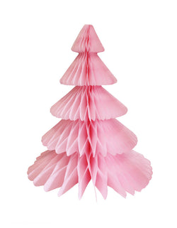 Devra Party Honeycomb Paper Christmas Tree decoration in Pink, 17 inch, Made in the USA with high quality tissue paper. This tissue paper tree will look so adorable for either your Holiday decoration at home or your Christmas event, use it as room decor, table centerpiece, or put them on top of the mantel. Delight your cozy pastel holiday with modern unique designed paper tree. Sold by Momo party store provided modern party supplies, boutique party supplies, chic holiday party supplies