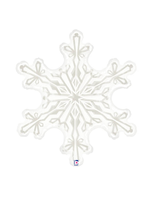 Clear Snowflake Shaped Balloon