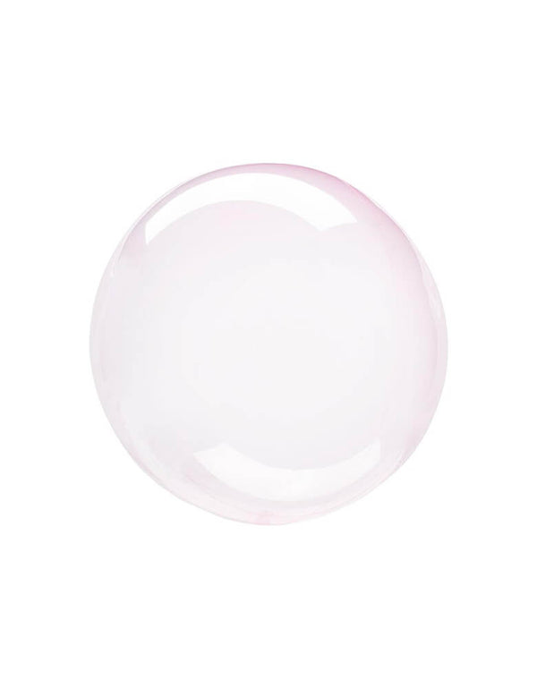 Anagram Balloons - Crystal Clearz Pink Orbz Non Foil Balloon.  The transparent material makes great bubble effect! This balloon includes a self-sealing valve, preventing the gas from escaping after it's inflated. Accent this balloon for your under the sea party, Mermaid party, Shark themed Birthday party, Baby shark birthday party, Magical Unicorn Party or any pool party in summer