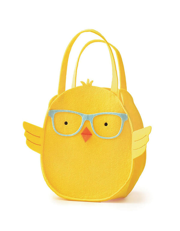 Paper Source - Paper Source Cutie Chick Tote Basket. This felt bag features a bespectacled chick with a cute orange nose and the perfect bag for holding all those Easter sweets and treats!  Product features 5.5-in. handle drop length Designed by Paper Source. Dimensions: 14.25 in. x 8 in. x 12.75 in.